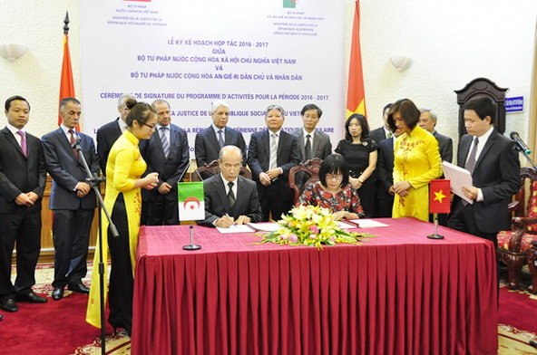 Enhancing the legal and judicial cooperation between Vietnam and Algeria