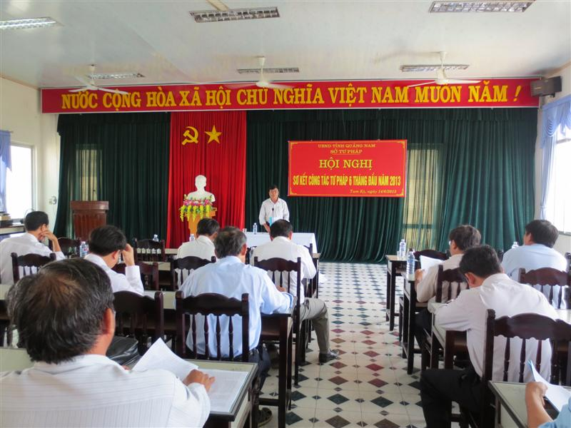 The Preliminary Conference of the first 6 months of 2013 in justice field in Quang Nam province