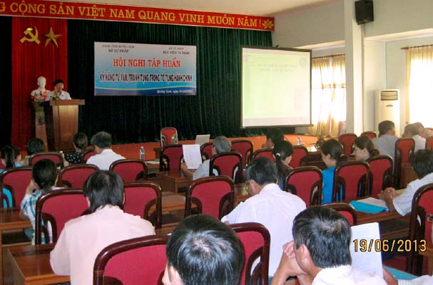 Quang Nam hosted skills training conference of consulting, litigation in administrative proceedings